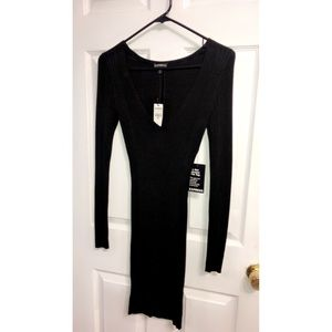 EXPRESS Black Sweater Dress